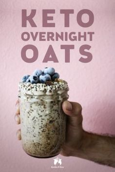 A new spin on traditional overnight oats, this Keto overnight oats recipe is so full of healthy fats, fiber, and flavor. Pretty high in carbs- 13 net carbs. Oats Recipes, Low Carb Recipes, Recipies, Keto Chia Seed Recipes, Freezer Recipes, Freezer Cooking, Drink Recipes, Cooking Tips, Vegan Recipes