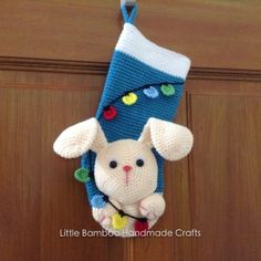 Bunny Christmas Stocking Crochet Pattern