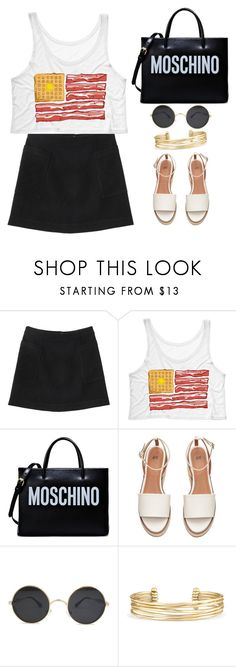 """""""Untitled #1723"""" by anarita11 ❤ liked on Polyvore featuring Monki, Moschino and Stella & Dot"""