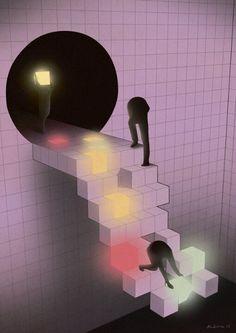 """""""Roadside Picnic"""", by illustrator Aldous Massey. In 1999 Arkady and Boris Strugatsky's Roadside Picnic was published. Ex Libris, Graphic Design Illustration, Illustration Art, Roadside Picnic, Magazin Design, Tecno, Thing 1, Retro Futurism, Design Consultant"""