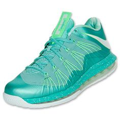 Men's Nike Air Max LeBron X Low Basketball Shoes  Crystal Mint/Poison Green/Fiberglass