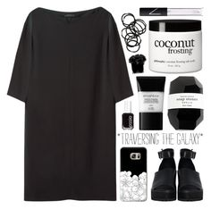 """""""98 ; tenebrae et lux"""" by faith-and-metanoia ❤ liked on Polyvore featuring The Row, The WhitePepper, Casetify, Cassia, Smashbox, Essie, philosophy, NARS Cosmetics, Monki and Hervé Gambs"""