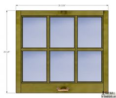 free plans and tutorial to build a diy 6 pane window frame like those old vintage