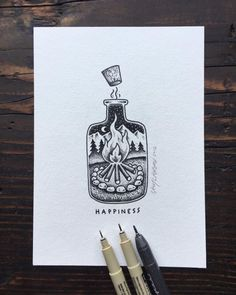 A little bottle of happiness for y'all.    #art... |
