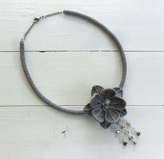 boho necklace boho chic beaded necklace statement necklace
