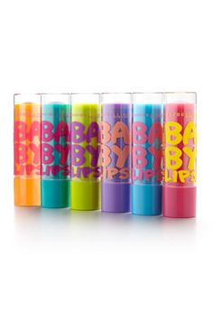 Maybelline Baby Lips Repairing Lip Balm with SPF 20  I absolutely love baby lips!! You can apply them underneath your lipstick if not just use it by it's self