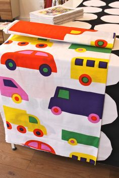 Marimekko's car print. One of my favorites! Perfect for a child's quilt.