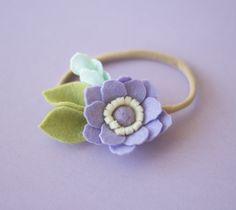 Felt flower headband baby felt headband Purple flower