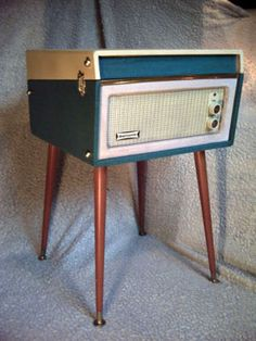 1960s Dansette Bermuda record player with legs