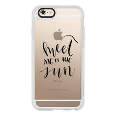 Meet Me in the Sun - Black Transparent - iPhone 6s Case,iPhone 6... ($40) ❤ liked on Polyvore featuring accessories, tech accessories, iphone case, clear iphone cases, iphone cover case, apple iphone cases, iphone hard case and iphone cases