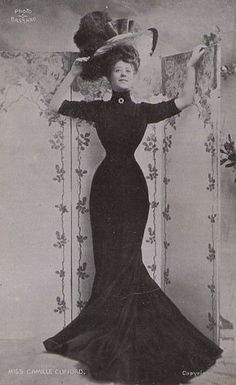 Gibson girl 1906 Edwardian fashion - with the right corset and paddings, this shape is totally achievable