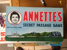 VINTAGE 1958 DISNEY ANNETTE'S SECRET PASSAGE PARKER BROS BOARD GAME  #ParkerBrothers