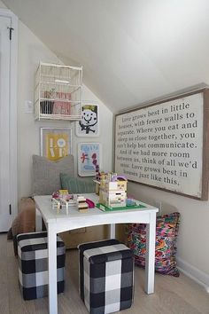 Play Room and Family Room ideas all in one