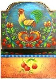 Rosemary West art | ROSEMARY WEST, CDA FOLK ART TIN CANDLE BOX PATTERN PACKET