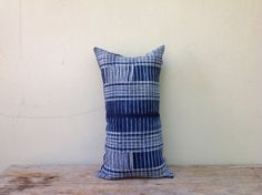 "Vintage Homespun Hemp Batik Hand Woven Pillow Case 12"" x 22"" Pieces Of Tribal Costume  orientaltribe11 on etsy"