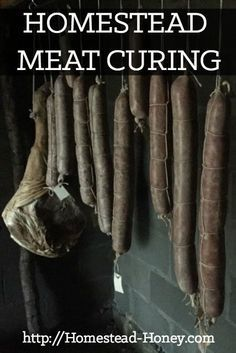 Using traditional methods of curing and smoking meat is a delicious way to preserve meat for enjoyment year round. In this post, I share some of our current meat cures, as well as a few of my favorite resources so you can try it yourself! | Homestead Honey
