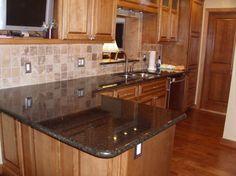 Uba Tuba Granite Countertops 30 70 Stainless Steel Sink 3x6 Slatty Multi Colored Slate