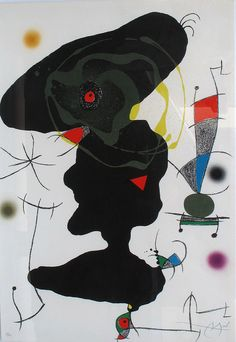 JOAN MIRÓ  Oda a Joan Miró - Ed. 17 17/75  Paper Guarro  88 x 61 cm.