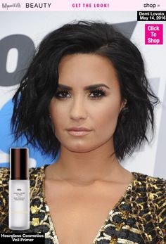 Demi Lovato headed to Wango Tango in a gorgeous little gold mini dress, but it was her stunning glow that stole the show! We love her look and you can recreate her entire beauty routine here!