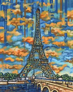 Eiffel Tower Paris 5x7 Art Print by Anastasia Mak by AnastasiaMak