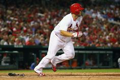 Matt Adams hits an RBI double against the Philadelphia Phillies in the fifth inning...Cards won the game 11-3.  7-24-13