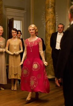 Lily James as Lady Rose MacClare in Downton Abbey (Series 4 Christmas Special, 2013).