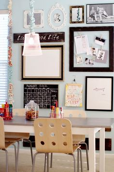 Love the school room and school stuff storage on this blog. Functional, pretty homeschool that doesn't turn your home into a romper room.