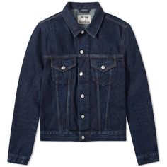 Acne Studios Who Denim Jacket (4.979.170 IDR) ❤ liked on Polyvore featuring men's fashion, men's clothing, men's outerwear, men's jackets, denim jacket, acne studios, jean jacket, mens cotton jacket and cotton jean jacket