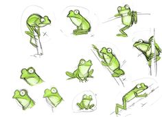 Character sketches 554505772867476879 - Max Lang: RotB – character sketches Source by Cartoon Drawings, Easy Drawings, Animal Drawings, Character Sketches, Character Art, Frosch Illustration, Frog Sketch, Comics Und Cartoons, Wie Zeichnet Man Manga