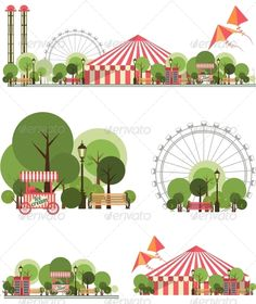 Carnival City Park #graphicriver