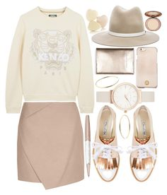 """ROSE GOLD"" by strayalley ❤ liked on Polyvore featuring Oscar de la Renta, Kenzo, Olivia Burton, Tory Burch, rag & bone, Michael Kors, Carven and Swarovski"