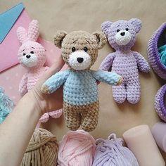 Bunny, bear, teddy bear in a sweater, crochet bunny, crochet bear, teddy, Plush Toys, plush bunny