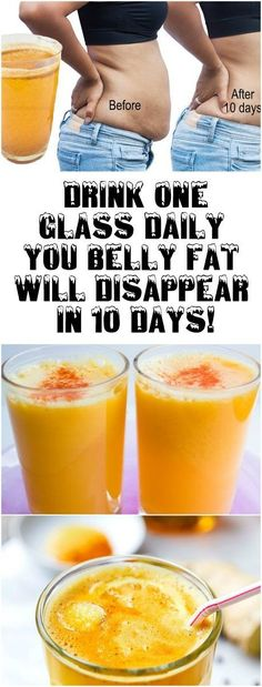 Drink One Glass Daily – You Belly Fat Will Disappear In 10 Days!