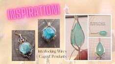 Inspiration! Interlocking Wires - Wire Wrapped Jewelry Gallery Etsy Jewelry, Jewelry Stores, Handmade Wire Jewelry, Wire Wrapped Jewelry, Wire Wrapped Pendant, Wire Wrapping Tutorial, Copper Jewelry, Pendants, Gemstones
