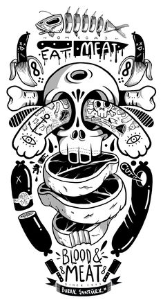 Skateboard Deck on Behance #Mcbess  #illustration