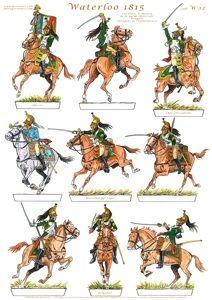 Gorini Art - Soldatini di Carta Waterloo 1815, Battle Of Waterloo, Military Art, Military History, Military Uniforms, Military Weapons, Bataille De Waterloo, Ww1 Art, Character Poses