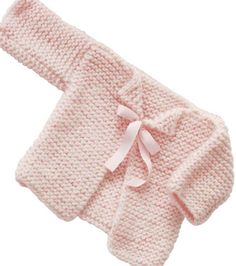 FREE PATTERN...Pretty in Pink Infant Cardigan