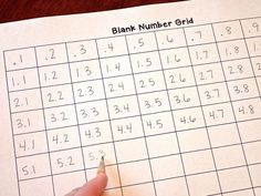 Assess students' understanding of decimals by having them count by tenths on a number grid.  The blog post includes more ways to use a blank number grid.