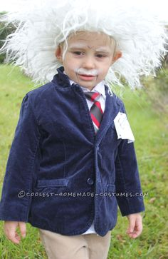 Cool Homemade Albert Einstein Toddler Costume... This website is the Pinterest of costumes
