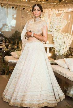 #sonamkishaadi Sonam Kapoor beautiful in Lehenga and (open back) Choli Blouse, Indian Wedding Jewellery and flowers around hair's braid: May, 2018: Pic from  Sonam Kapoor's mehendi ceremony. Rekha, Janhvi Kapoor, Shilpa Shetty and other Bollywood stars, producers, directors were in attendance. #sonamanandwedding  #sonamkapoor #indianwedding #mehendi #mehndi #bollywood #bollywoodfashion #jewelry #jewellery #choli #indianfashion #hair @filmfare on @twitter #twitter via @sunjayjk