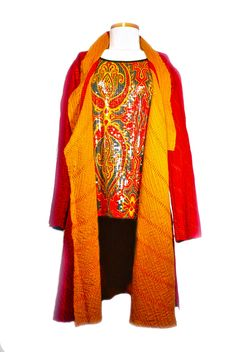 Our silk tunics are great for anyBODY. They look great, travel well and may even get you into first class! Red S-XL