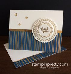Eastern Palace, Eastern Medallions Dies & Eastern Beauty thank you card idea.  Mary Fish, Stampin' Up! Demonstrator.  1000+ StampinUp & SUO card ideas.  Read more https://stampinpretty.com/2017/05/more-eastern-palace-card-ideas-bundle-promotion.html