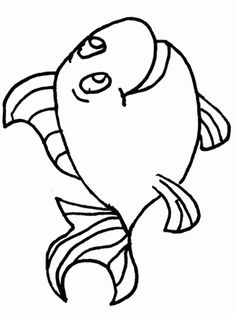 Animals Fish Printable Colouring Pages For Preschool