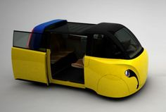 Future Urban Mobility: Semi-public electric vehicle to replace fossil fuel cars