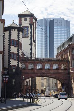 Frankfurt, Hesse, Germany by EFmt Places Around The World, Travel Around The World, Around The Worlds, Germany Photography, Travel Photography, Berlin, Frankfurt Germany, Skyline, Germany