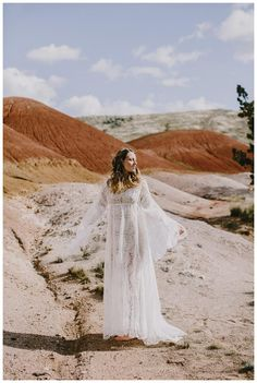 Wedding dress from the Elizabeth Dye Painted Desert Collection. Image by Phil Chester.