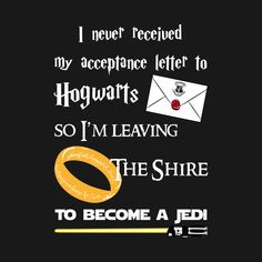 Awesome 'TIRED+OF+WAITING%3F+%28YELLOW+LIGHTSABER%29' design on TeePublic! - My design makes reference to Harry Potter, Lord of the Rings and Star Wars at the same time. You also did not receive your letter? (SciFi Tshirts)
