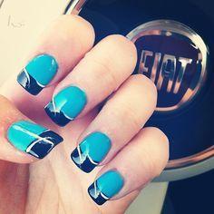 nail designs Carolina Panthers   carolina panthers colors ♥
