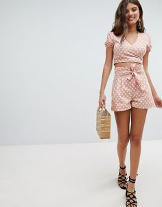2befb8afa1 asos: Missguided Summer Co Ords, Asos, Shorts Co Ord, Tie Waist Shorts