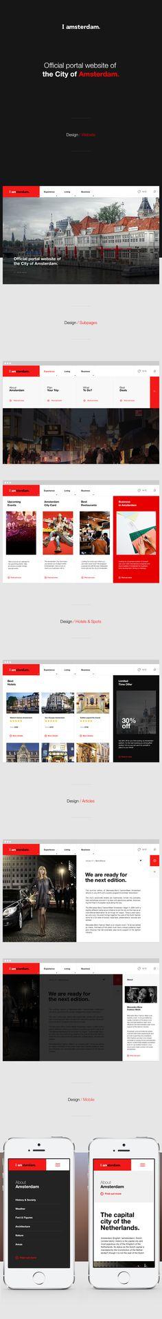 IAmsterdam UI   Abduzeedo Design Inspiration